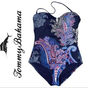 Tommy Bahama One Piece Swimsuit Paisley Print